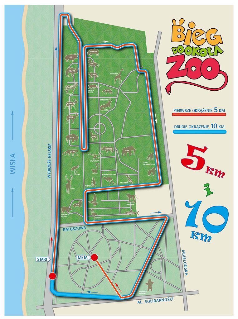 Bieg wokół zoo - trasa