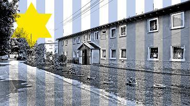 Dwa dawne baraki filii obozu koncentracyjnego Gross-Rosen w Cieplicach. Dzisiaj służą jako domy mieszkalne