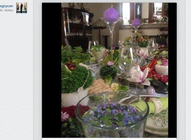 Wielkanocny stół Grycanów