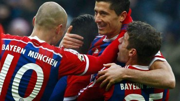 Arjen Robben, Robert Lewandowski i Thomas Mueller