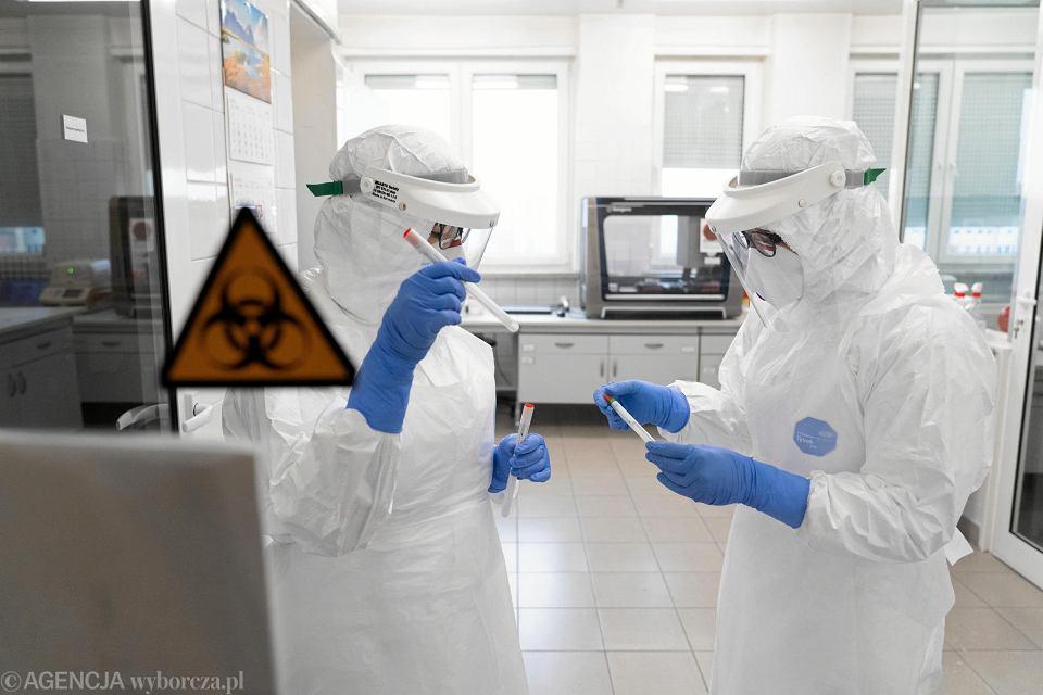 Laboratorium wykonujące ne testy na obecność koronawirusa. Olsztyn, 11 marca2020
