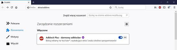 Jak wyłączyć Adblock Plus w przeglądarce Firefox?