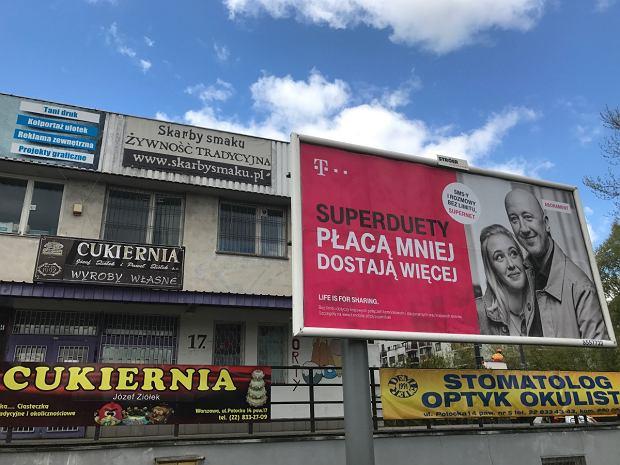 Reklamy w Warszawie