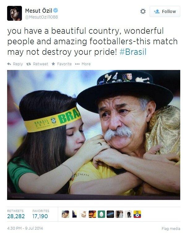 Mesut Ozil na Twitterze