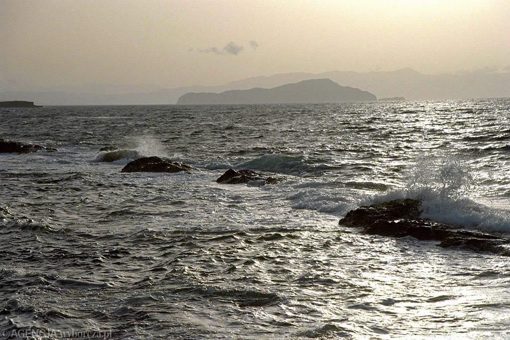 Widok z Krety na Morze Śródziemne