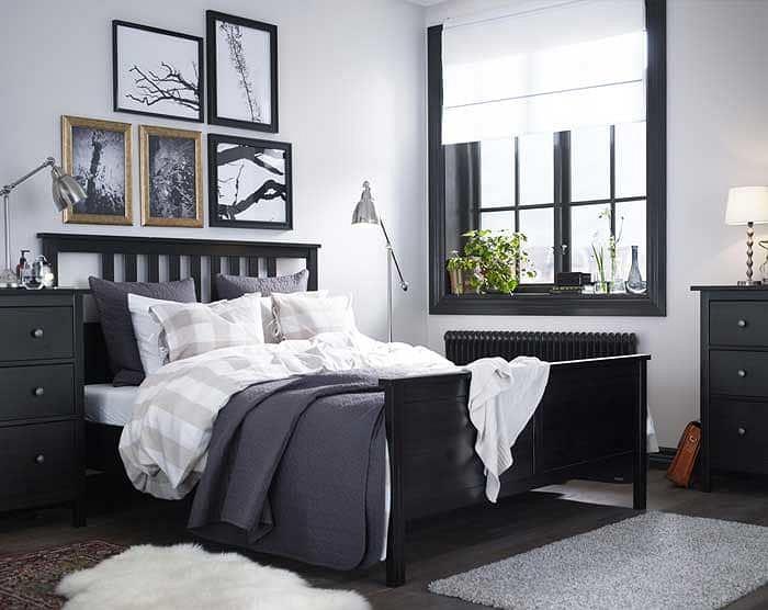Ikea Hemnes - wygodnie urządzona sypialnia