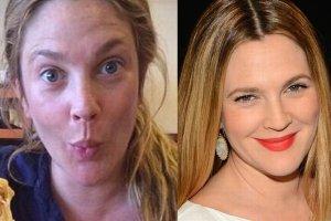 Drew Barrymore zaskoczyła fanów, kiedy wstawiła na Instagram zdjęcie, na którym nie ma ani grama makijażu. Zdziwienie było tym większe, że gwiazda w wersji sauté była naprawdę nie do poznania! Zobaczcie, które gwiazdy bez makijażu wyglądają zupełnie inaczej.