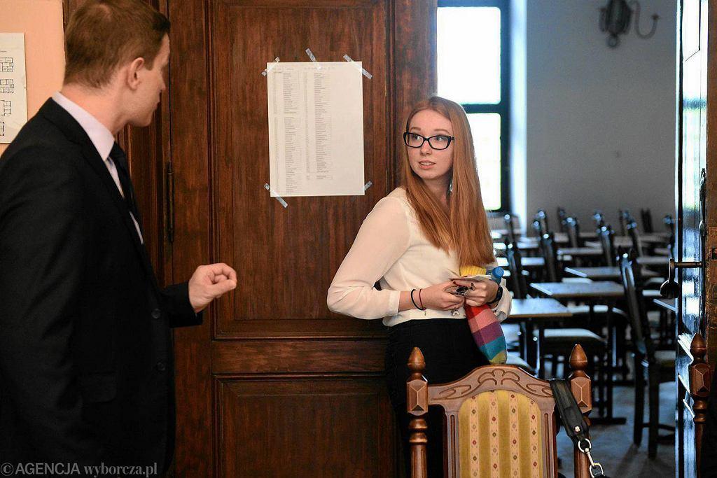 Matura 2017 - matematyka. Uczniowie LO I im. Adama Mickiewicza w Olsztynie przed egzaminem