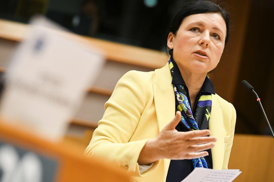 Wiceprzewodnicząca Komisji Europejskiej Vera Jourova.