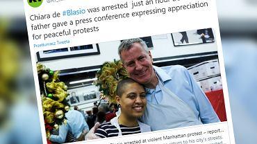 USA. Zamieszki po śmierci George'a Floyda. Córka burmistrza Nowego Jorku została aresztowana