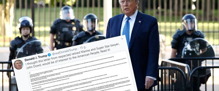 Były adwokat Donalda Trumpa: Protestujący to terroryści