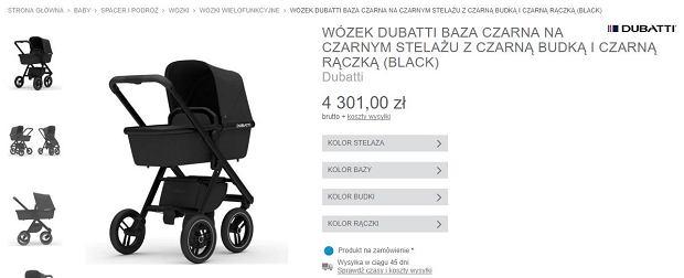 Wózek marki Dubatti