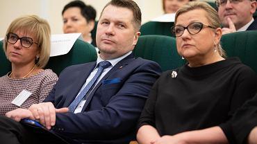 Poseł Przemysław Czarnek i europosłanka Beata Kempa