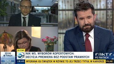 Fragment programu 'Fakty po Faktach' w TVN24 - 16.05.21 r.