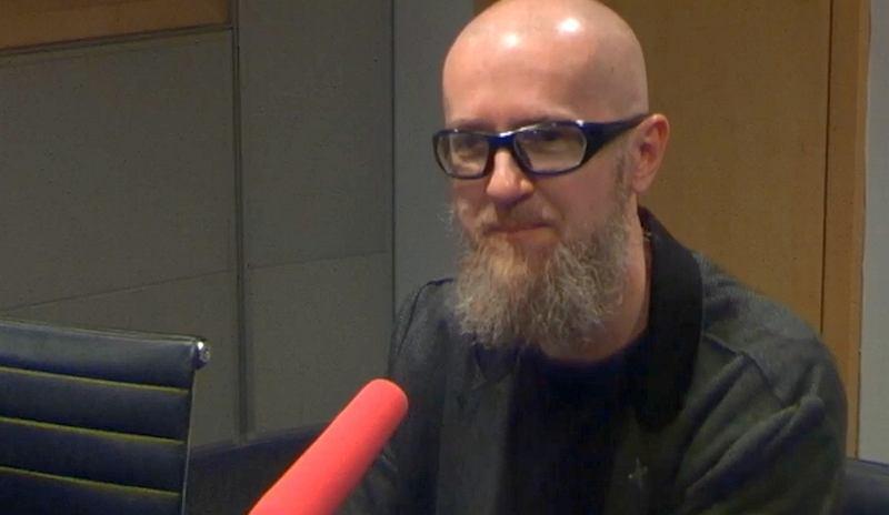 Tomasz Bagiński w studiu Radia TOK FM