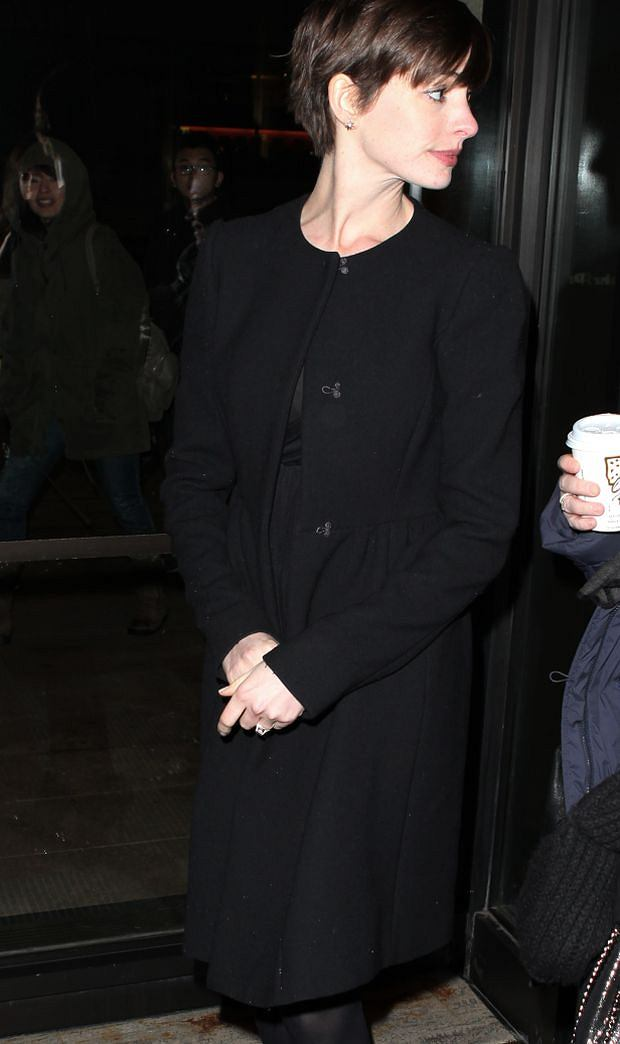Anne Hathaway attending the Opening Night Performance of 'Ann' (Ann Richards) starring Holland Taylor at the Vivian Beaumont Theatre in New York City on 07/03/2013
