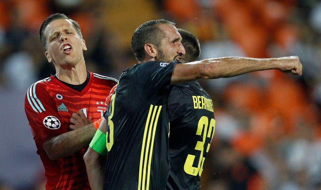 Wojciech Szczęsny i Giorgio Chiellini fetują triumf w Lidze Mistrzów. Valencia - Juventus 0:2