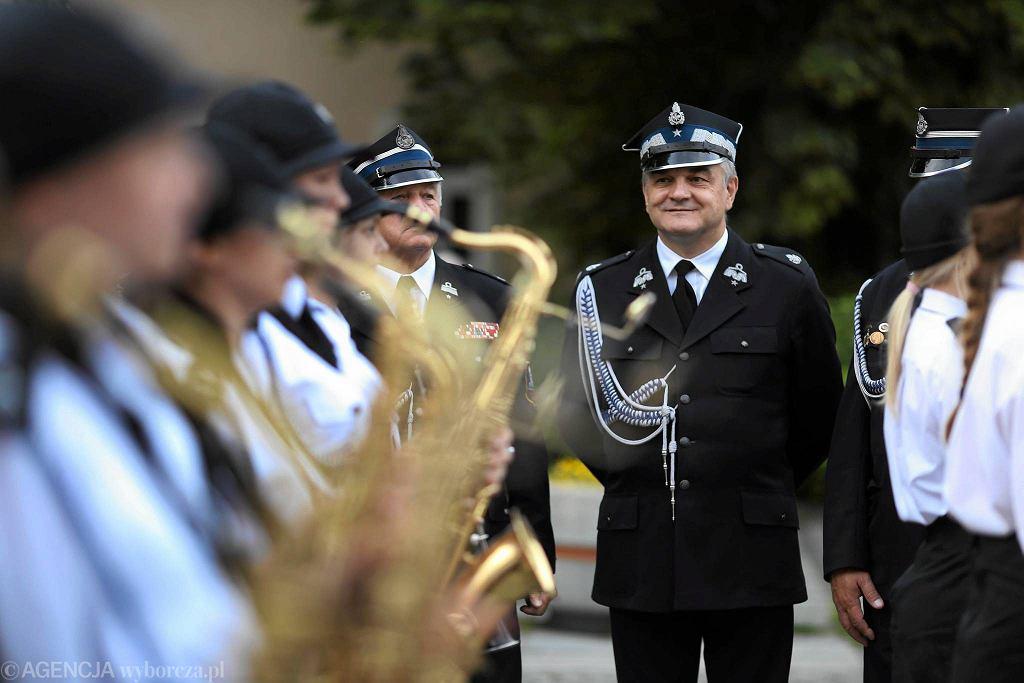 Częstochowa, XXIV Ogólnopolski Festiwal Orkiestr Ochotniczych Straży Pożarnych, 16-18 czerwca 2017 r. Przemarsz III Aleją NMP pierwszego dnia imprezy