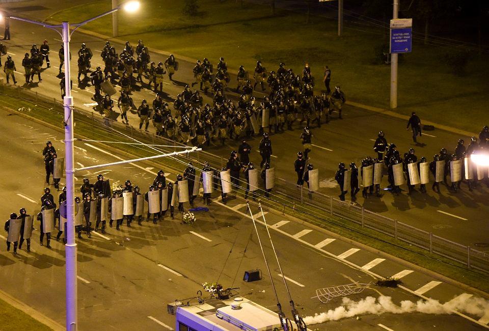 Starcia milicji z mieszkańcami Mińska, 10 sierpnia 2020 r.