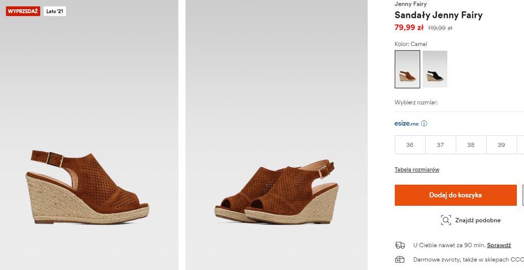 ażurowe sandały ccc