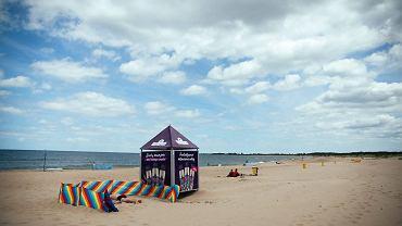 Plaża w Świbnie.