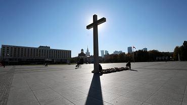 Krzyż papieski na placu Piłsudskiego. Warszawa, 16 października 2018