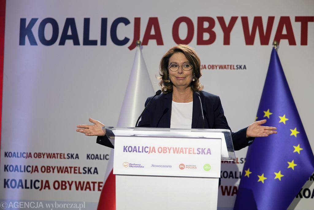 Małgorzata Kidawa Błońska podczas Konwencja Programowej Koalicji Obywatelskiej. Warszawa, 6 września 2019