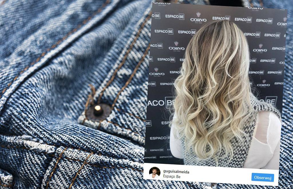 Denim hair jako trend 'trzyma się' zaskakująco długo