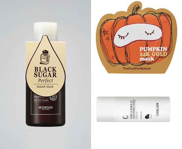 Ekspresowa maseczka od Skinfood, maska z dyni Too Cool for School i sztyft do oczyszczania porów CAOLION