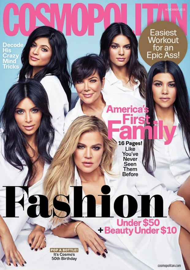Kardashianki dla Cosmopolitan jako first family, czyli pierwsza rodzina