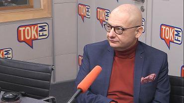 Michał Kamiński w studiu TOK FM.