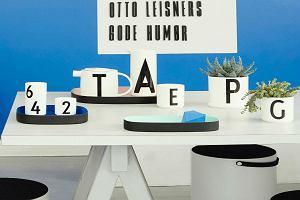 Design Letters - ozdobne litery, czcionka Arne Jacobsena na naczyniach. Rewelacja!