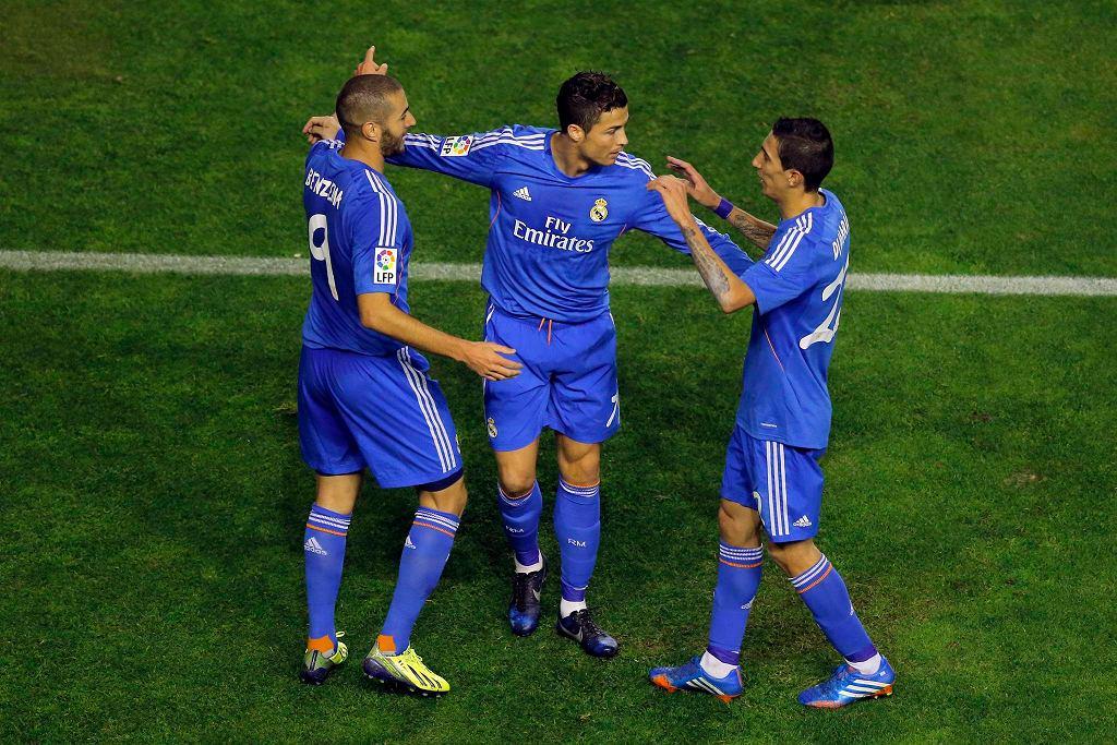 Karim Benzema, Cristiano Ronaldo i Angel Di Maria