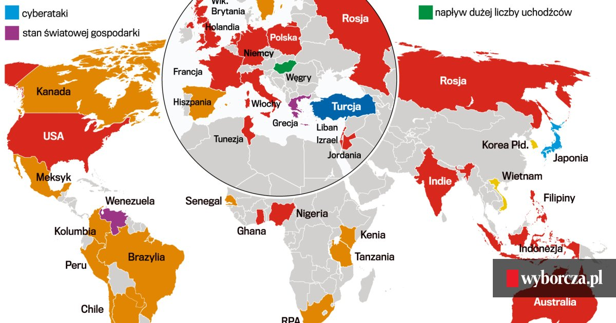 c403266ff756ae Globalna mapa strachów. ISIS, cyberataki, kryzysy ekonomiczne... a ...