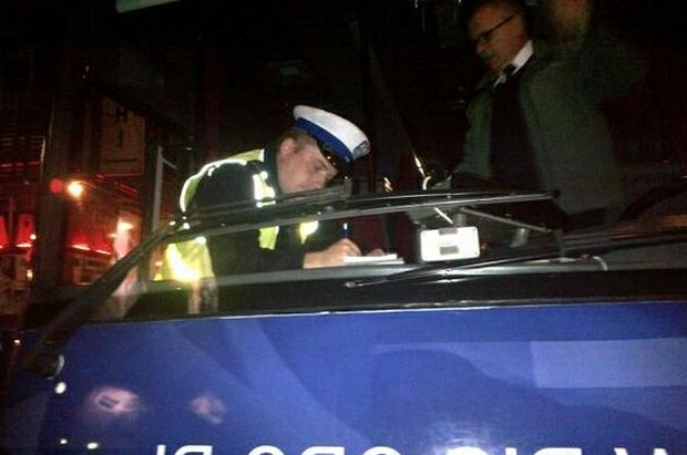 Policja kontroluje Szydłobus