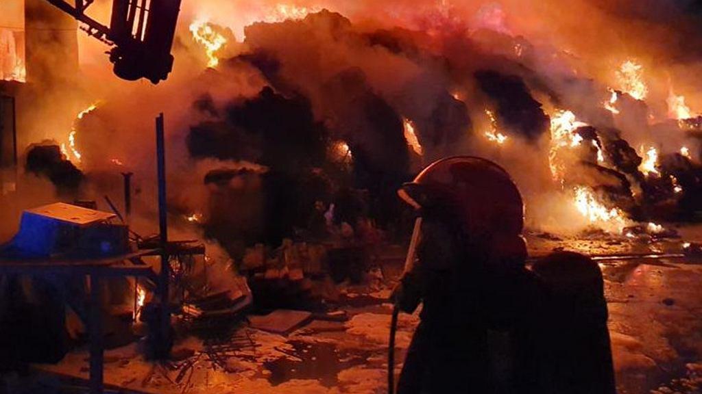 Pożar składowiska odpadów