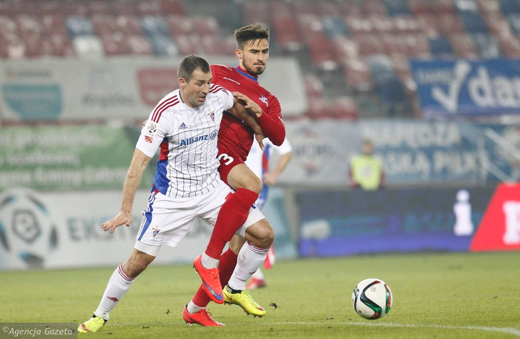 Radosław Sobolewski w meczu Górnik Zabrze - Podbeskidzie 0:2