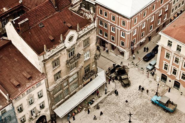 Ukraina Lwów. Na Rynku