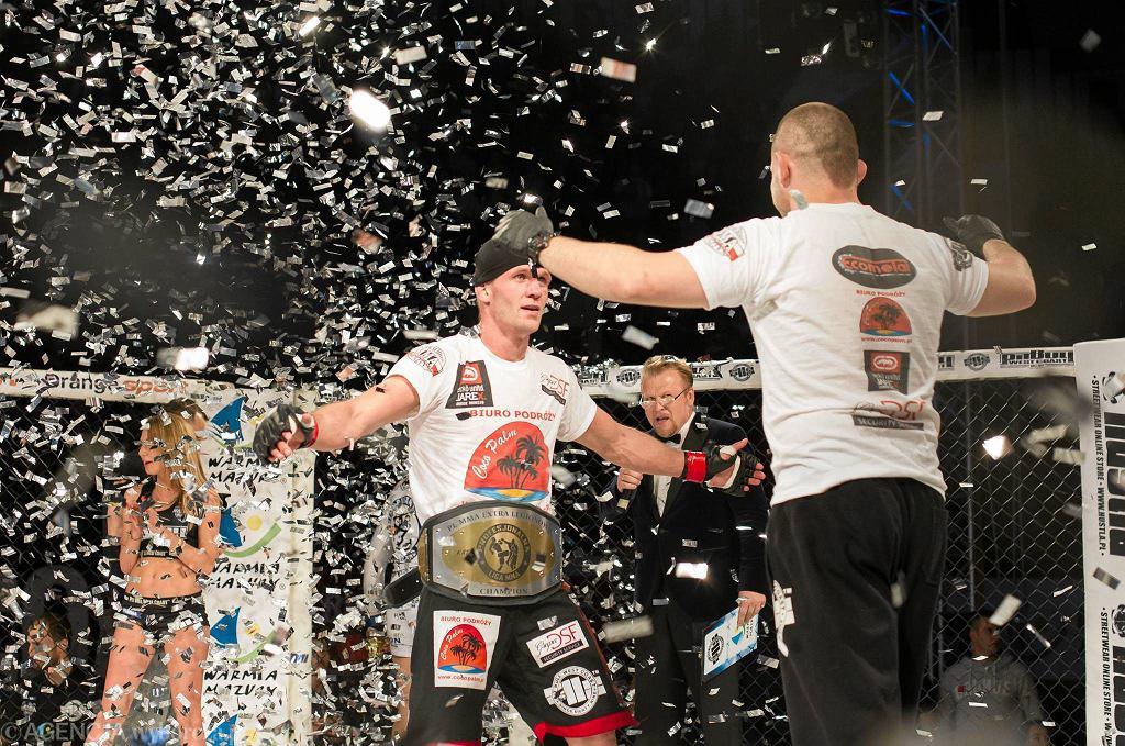 Adrian Zieliński z klubu Arrachion MMA Olsztyn