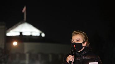 #Protest Strajku Kobiet przed Sejmem