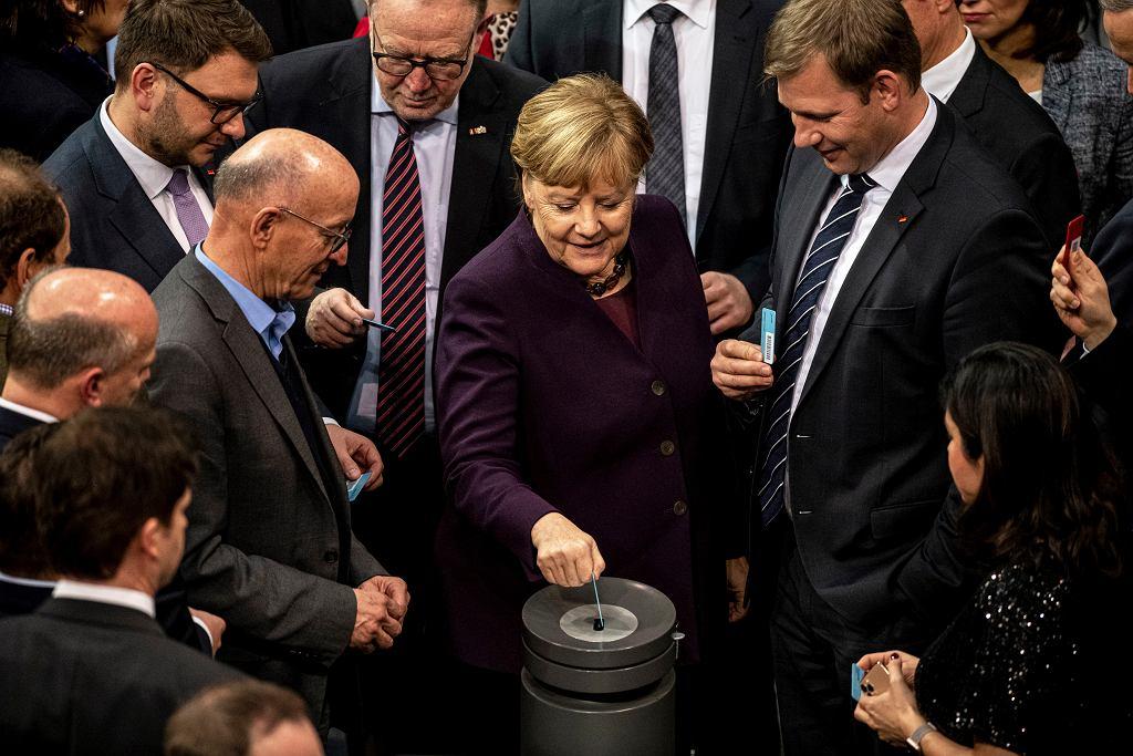 Głosowanie w niemieckim parlamencie