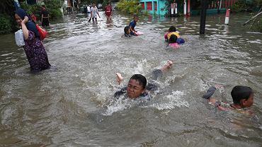 Powódź w stolicy Indonezji.