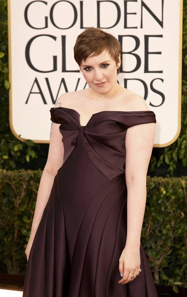 "Actress Lena Dunham of the TV series ""Girls"" at the 70th annual Golden Globe Awards in Beverly Hills, California January 13, 2013. REUTERS/Jason Redmond (UNITED STATES - Tags: Entertainment) (GOLDENGLOBES-ARRIVALS)"