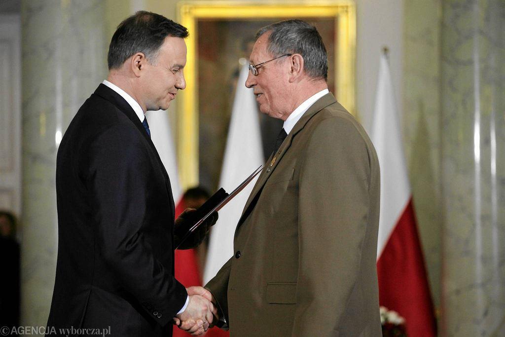 Prezydent Andrzej Duda i minister środowiska Jan Szyszko