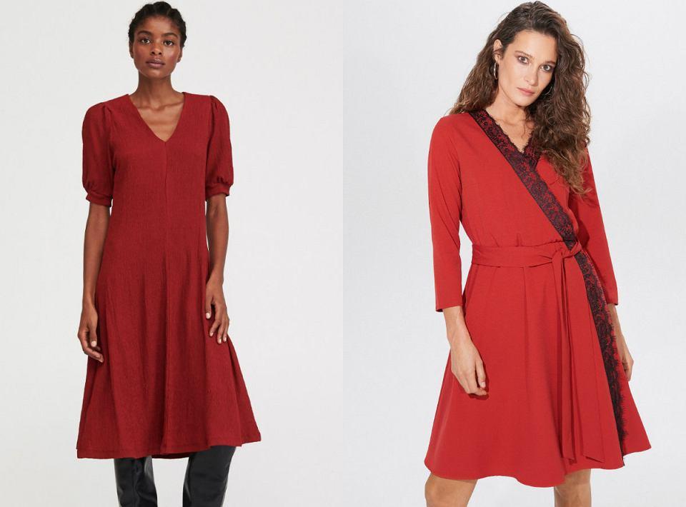 Czerwone sukienki o prostym kroju