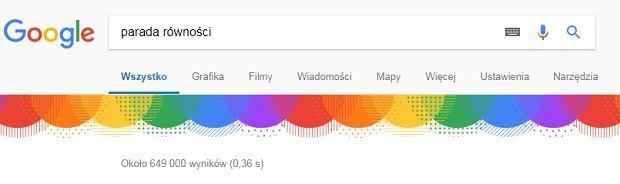 Parada Równości w Google