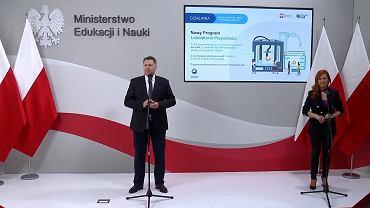Wpadka podczas konferencji ministra Przemysława Czarnka