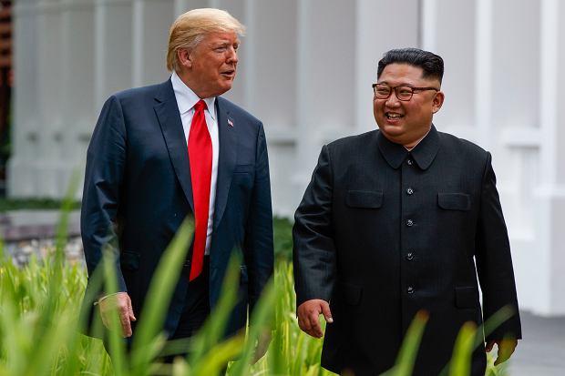 Donald Trump i Kim Dzong Un na szczycie w Singapurze