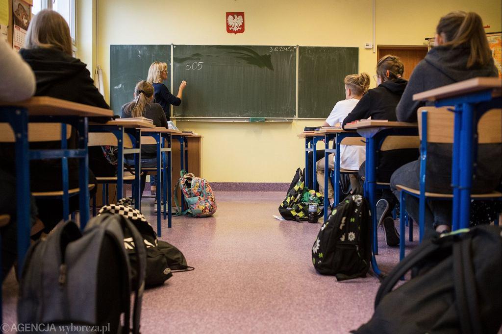 Lekcja w polskiej szkole