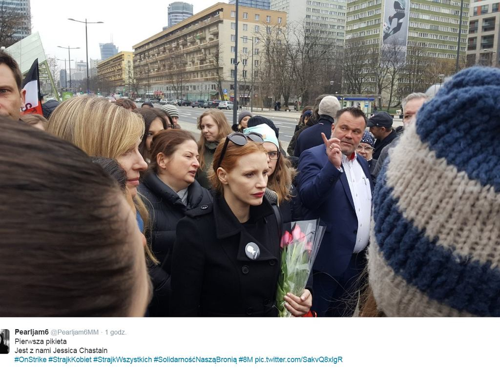 Jessica Chastain w Warszawie